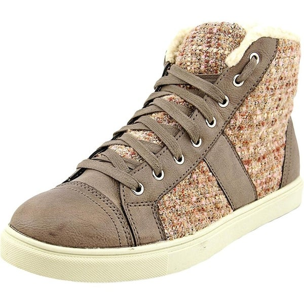 Madden Girl Womens Everestt Fabric Hight Top Lace Up Fashion Sneakers