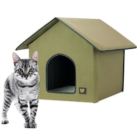 FrontPet 20 Watt Heated Cat House for Outdoor & Indoor Cats / Cat House / Outdoor Heated Cat House. Perfect Cat House for Keepi