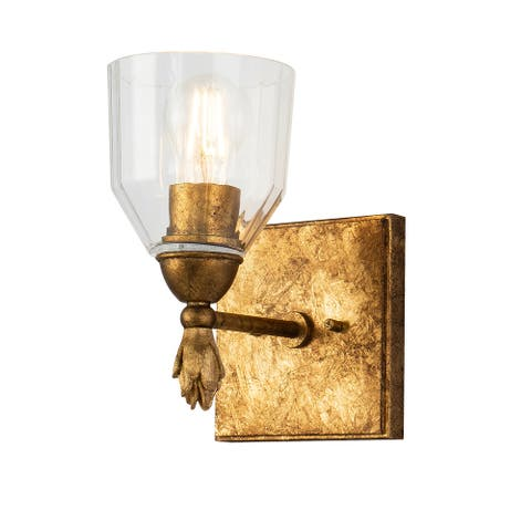 Felice 1 Light Wall Sconce in Gold