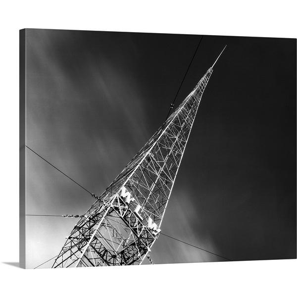 """1930's Wlw Radio Aerial Antenna Cincinnati Ohio USA"" Canvas Wall Art"