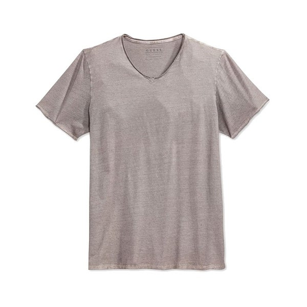 8a1544c97d3a Shop Guess NEW Gray Mens Size Large L Oil Wash Short Sleeve V-Neck Tee Shirt  - Free Shipping On Orders Over $45 - Overstock - 18405595