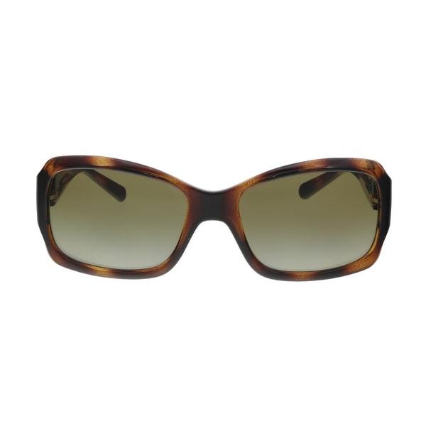 bec025635c8f Shop Tory Burch TY9028 510/13 Havana Rectangular Sunglasses - 56-18 ...