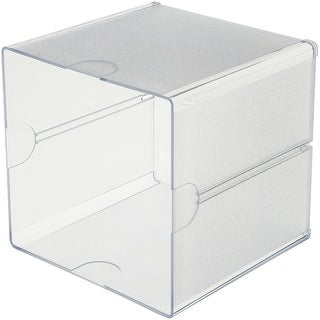 "Stackable Open Cube Storage Organizer-6""X6""X6"" Clear"