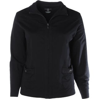 Karen Scott Womens Plus Jacket Cotton Quilted - 1x