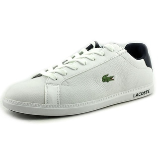 Lacoste Graduate LCR SPM Men Round Toe Leather White Sneakers