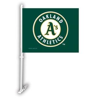 Fremont Die Inc Oakland Athletics Car Flag With Wall Brackett Car Flag With Wall Brackett