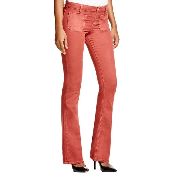 Sanctuary Womens Marianne Flare Jeans Solid Stretch