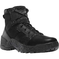 """Danner Men's Scorch Side-Zip 6"""" Work Boot Black Hot Leather/Textile/Synthetic"""