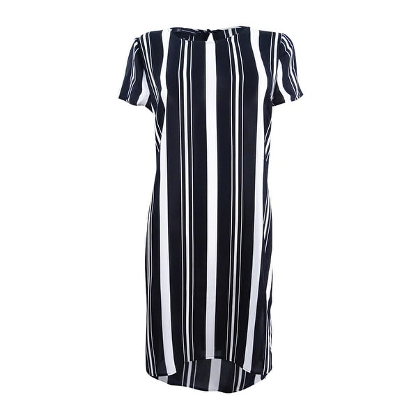 3938125f1b INC International Concepts Women's Striped High-Low Tunic (M, Infinity  Stripe) - Infinity Stripe - M