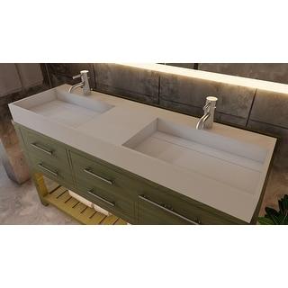 "Link to Juniper 60"" Solid Surface Bathroom Vanity Top Similar Items in Bathroom Furniture"
