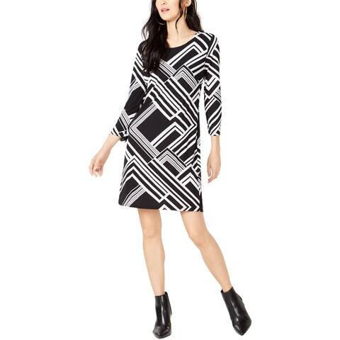 I-N-C Womens Varisty Shift Dress