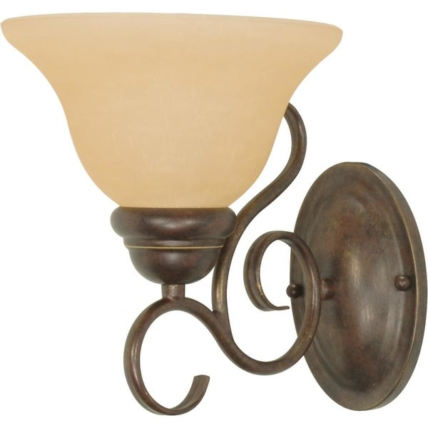 """Nuvo Lighting 60/1032 Castillo 1-Light 7-1/4"""" Wide Bathroom Sconce with Frosted Glass Shades - sonoma bronze"""