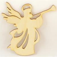 """Package Of 50, Angel #2 Wood Ornament 4 """" X 4.25 """" Easy To Paint Or Decorate"""