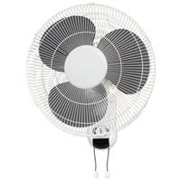 Lorell LLR49256 16in. Wall Mount Fan- 6ft. Cord- 9-.25in.x18-1-9in.x18-.50in.- White