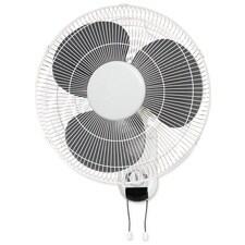Lorell LLR49256 16in. Wall Mount Fan- 6ft. Cord- 9-.25in.x18-1-9in.x18-.50in.- White