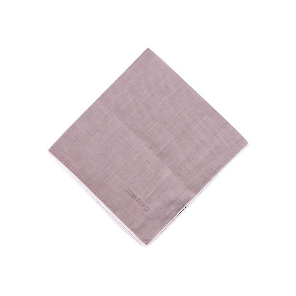 Tom Ford Men's Linen Mauve Silk Pocket Square