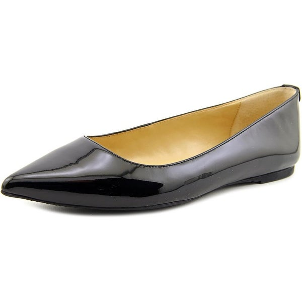 0127abfe548 Michael Michael Kors Arianna Flat Women Pointed Toe Patent Leather Black  Flats