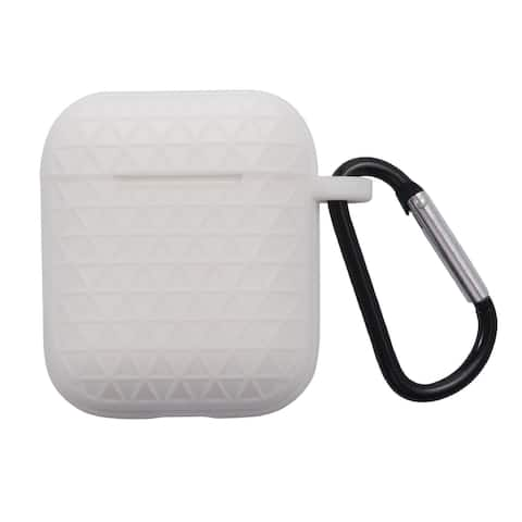 For Apple AirPods 1/AirPods 2 White Gel Textured Case