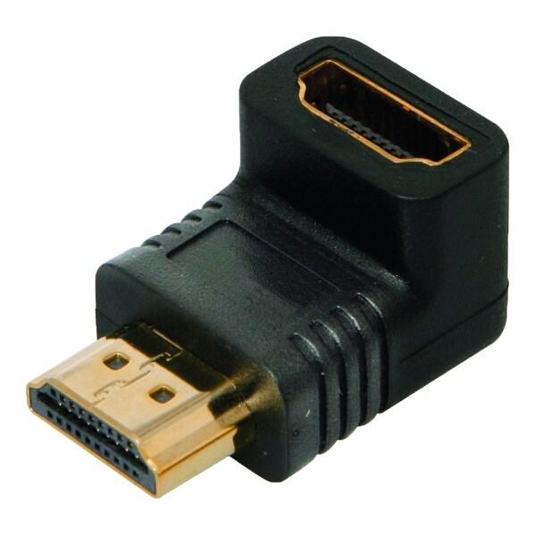 4XEM 4XHDMIMF90 4XEM 90 Degree HDMI A Male To HDMI A Female Adapter - 1 x HDMI (Type A) Male Digital Audio/Video - 1 x HDMI