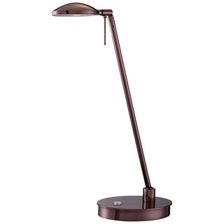 Kovacs P4336-631 1 Light LED Swing Arm Desk Lamp with Chocolate Chrome Finish