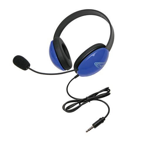 Listening First Headsets with Single 3.5mm plugs, Blue