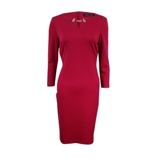 Ivanka Trump Women's Chained Neckline Sheath Dress - 2