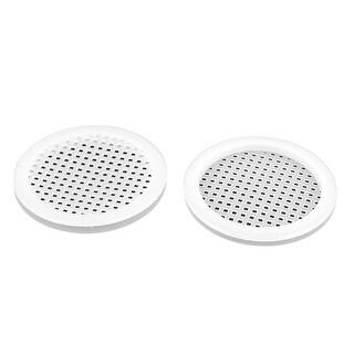 Plastic Round Shape Holes Design Sink Basin Strainer White 2 Pcs