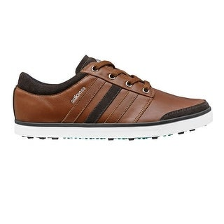 Adidas Men's Adicross Gripmore Tan Brown/Chocolate/Power Green Golf Shoes Q44568
