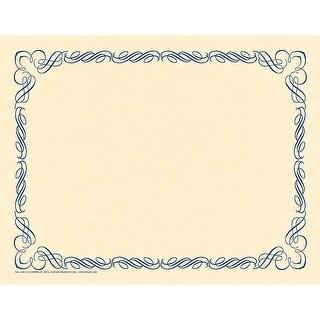 Arabesque Border Paper Blue