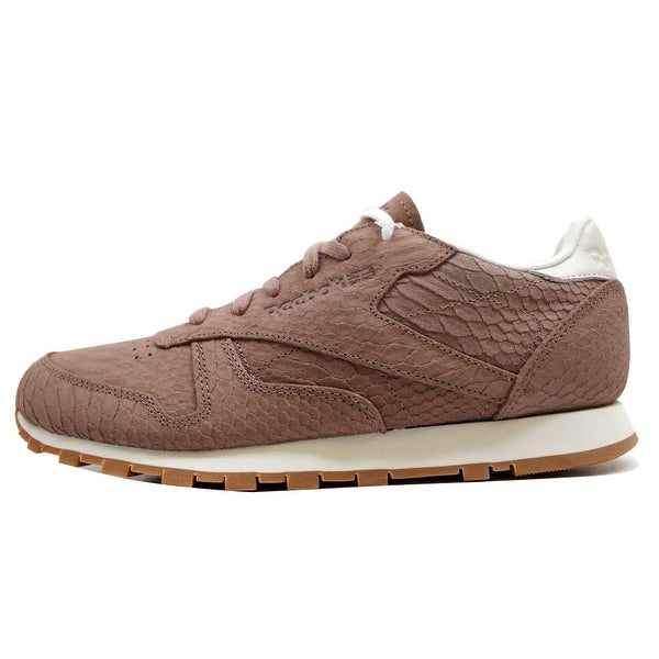 Reebok Women's Classic Leather Clean Exotics Taupe/Chalk V68797