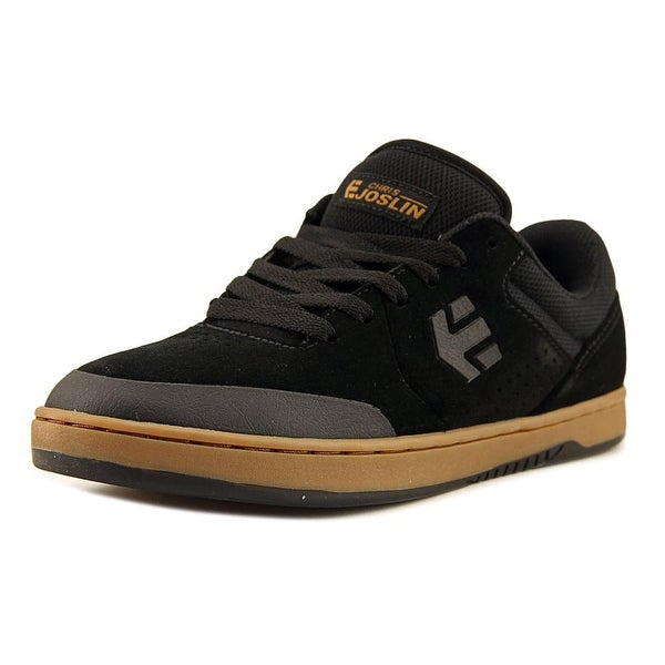 3fa25c235a0a7 Etnies Marana Men Round Toe Leather Black Skate Shoe