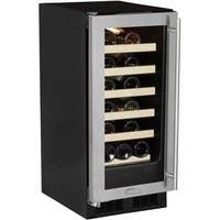 "Marvel ML15WS0L 15"" Wide 23-Bottle Built-In Wine Cooler with Incandescent Lighti"