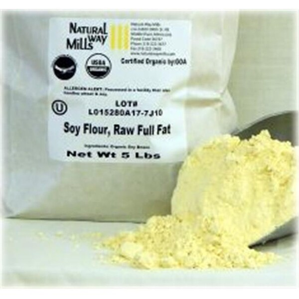 Giustos Flour 858894 1 lbs Full Fat Organic Soy Flour - Case of 25