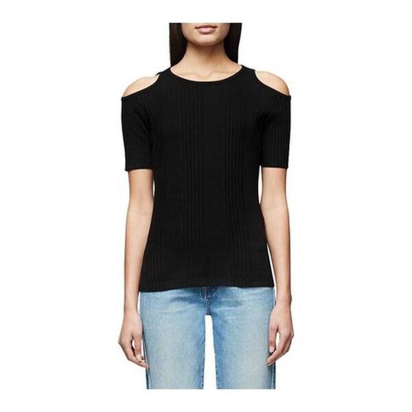 Frame Denim Variegated Cut Out Tee T-shirt White Top SZ XSMALL