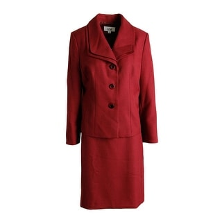 Le Suit Womens Tuscany Knee-Length 2pc Skirt Suit - 16