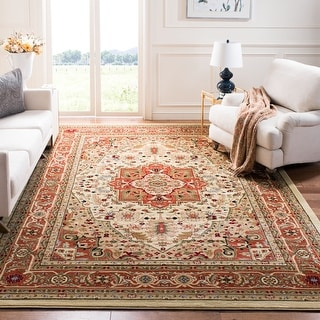 Link to Safavieh Lyndhurst Feryal Traditional Oriental Medallion Rug Similar Items in Rugs