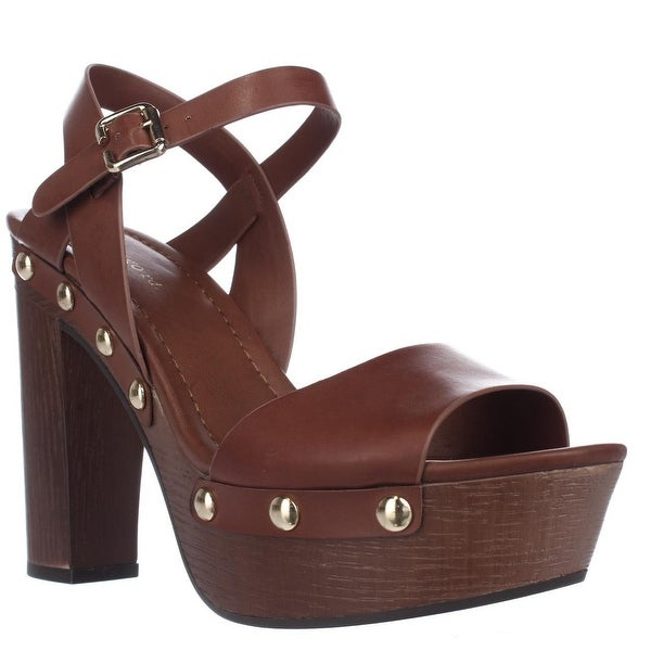 Indigo Rd. Kiana Platform Studded Sandals, Medium Brown