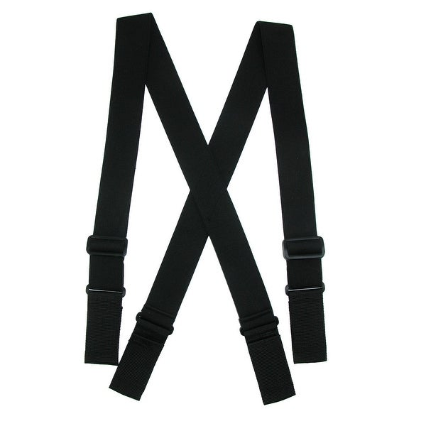 CTM® Men's Big & Tall Elastic Ergonomic Support Suspenders with Hook & Loop Ends