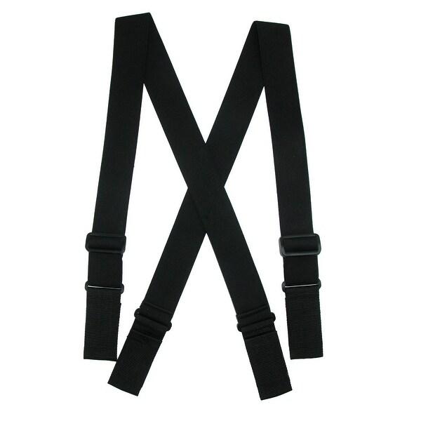 CTM® Men's Elastic Heavy Duty Ergonomic Support Suspenders with Hook & Loop Ends