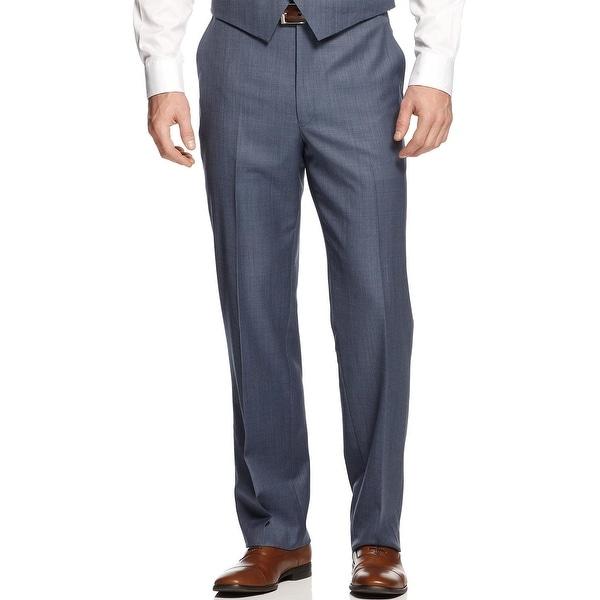 SHAQUILLE O'NEAL Big and Tall Flat Front Dress Pants Blue 56 Waist Regular $150. Opens flyout.