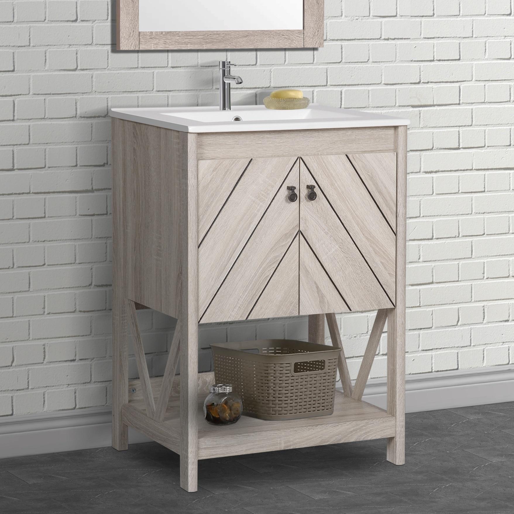 24 Inch Farmhouse Bathroom Vanity Set Overstock 31107891