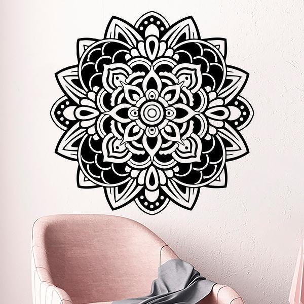 Mandala Wall Decals Om Sign Decal Yoga Sticker Vinyl Decals Wall Decor Murals Meditation Decor Pattern Namaste Yoga Studio. Opens flyout.