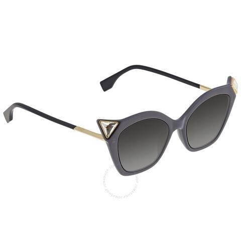 53MM Jeweled Cat Eye Fendi Sunglasses - L