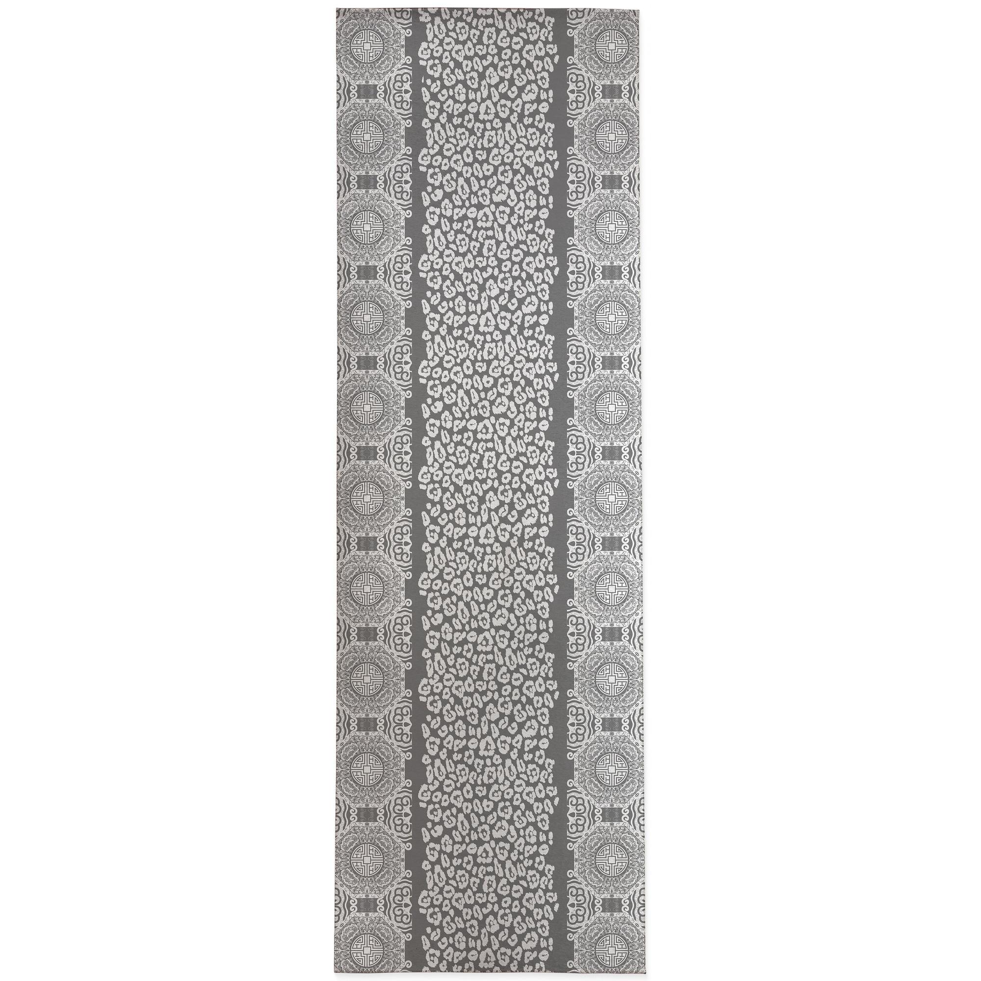 Mingleopard Grey White Area Rug By Kavka Designs Overstock 31453256