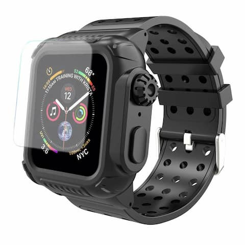 For Apple Watch Series 4/5/6/SE 40/44mm Shockproof Case Cover Screen Protector 40mm - S