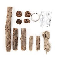 KOTA PET Authorized DIY Tailor Silvervine Wind Chime Design Cat Chew Stick Toys - brown