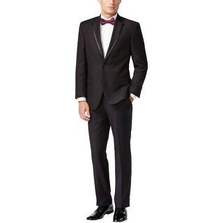 Sean John Black Patterned Tuxedo 42 Regular 42R Flat Front Pants 36W