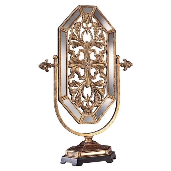 Ambience AM 50680 Free Standing Mirror from the Jessica McClintock Home Collection - tuscan gold with mirror highlights - N/A