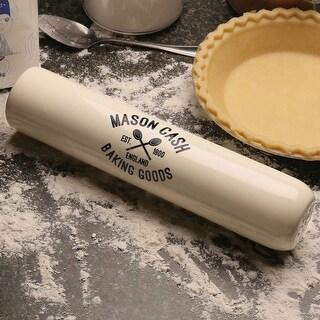 The Original Mason Cash Varsity 2-In-1 Rolling Pin & Flour Shaker - Stoneware