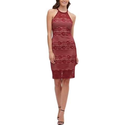 Guess Womens Cocktail Dress Illusion Floral